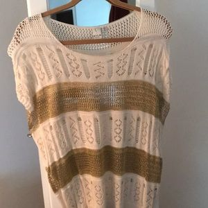 Boutique sweater White and Gold size Lg
