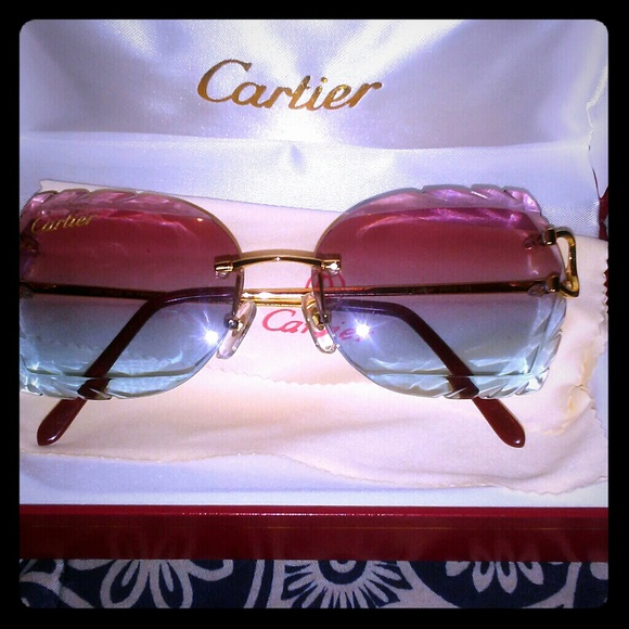 f91e55f7a3b4 Cartier accessories diamond cut lenses wire poshmark jpg 580x580 Cartier  sunglasses www decoration picturesque spectacle