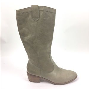 Banana Republic Tall Leather Pull On Boots 9.5