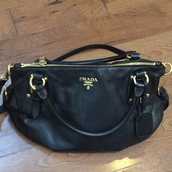 5b80f066635e 1234 517da 9290f; order authentic prada black soft calf leather bag d45f6  3ca9c
