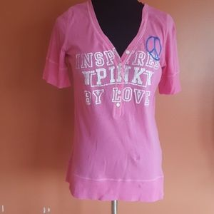Pink Victoria's secret inspired by love shirt