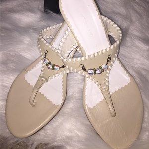 Angela Moore kitten heel sandal