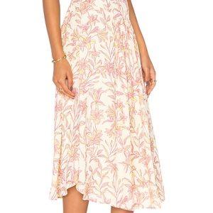 NWT Bobi Black Printed Chiffon Maxi Skirt