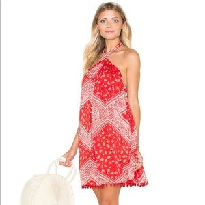 Tularosa Holden Dress in Cherry