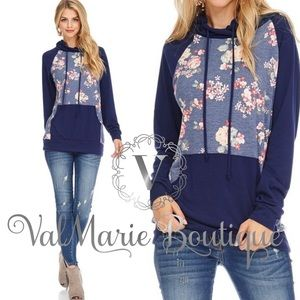 Baby French Terry Raglan Sleeve Floral Sweatshirt