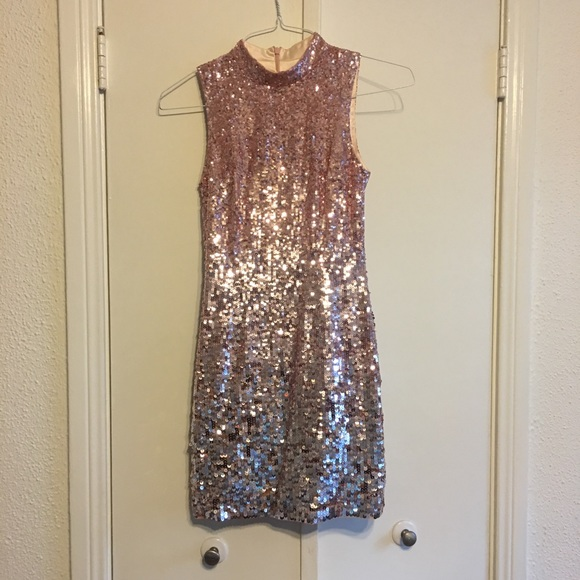 1731c9872a6 French Connection Dresses | Pink Ombre Sequin Dress 0 | Poshmark