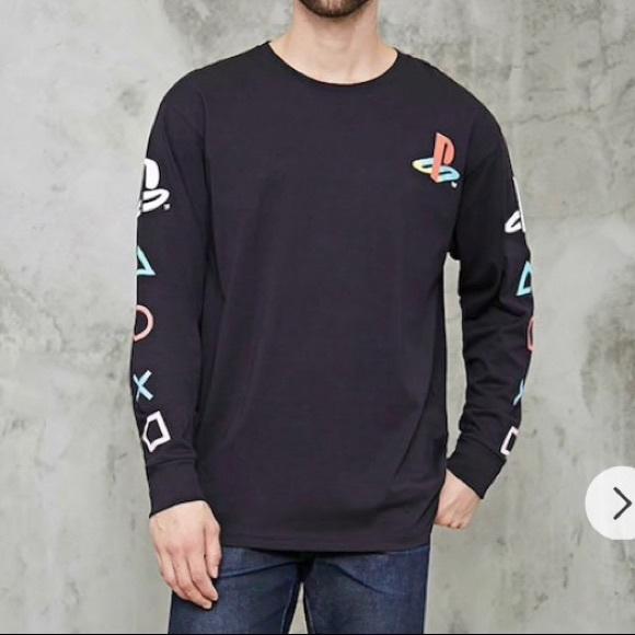 b1ed26b483fb Forever 21 Shirts | Iso Men Playstation Graphic Tee | Poshmark