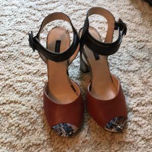 Shoemint chunky open toe heels