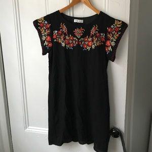 NWOT Embroidered Babydoll Dress