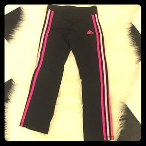Other - Adidas black and pink workout leggings