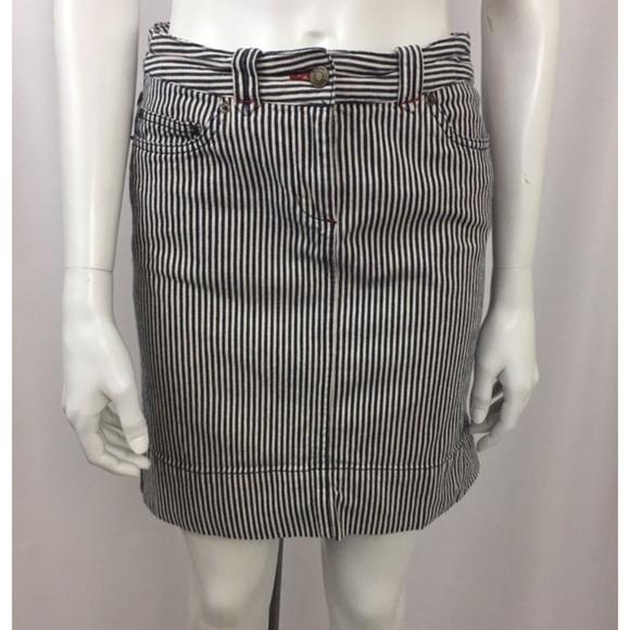 1801beb4fd Boden Dresses & Skirts - Boden Women's Striped Denim Skirt ...