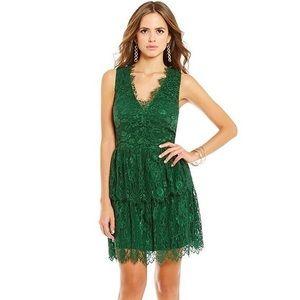 NWOT Gianni Bini Green Layered Lace Dress