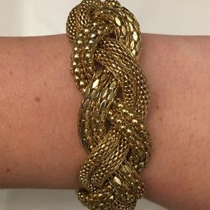 Jewelry - Gold Magnetic Braided Statement Bracelet