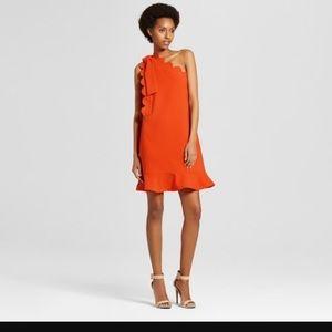 Victoria Beckham For Target Orange Bow Dress M