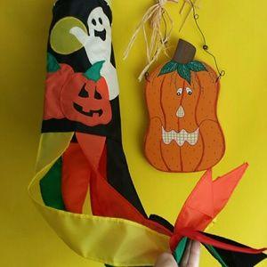 Other - *BUNDLE ONLY* Halloween Windsock / Pumpkin Plaque