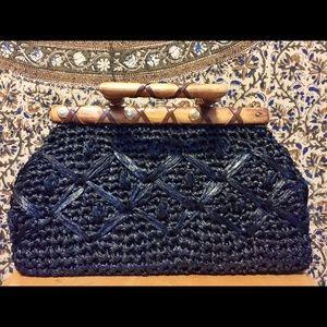 Handbags - Vintage black woven hand bag