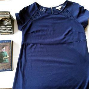 Liz Lange Maternity Target Blue Shift Dress Small