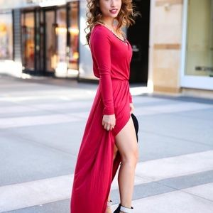 Low and high dress