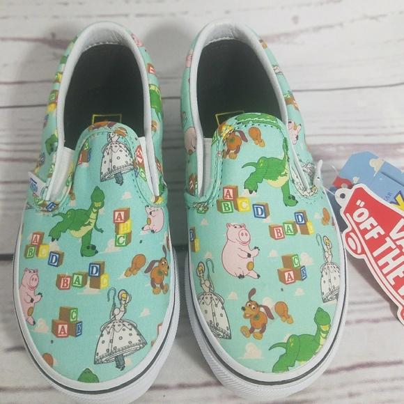 508316e56958df Kids TOY STORY VANS Slip On Sneakers 11 1 2
