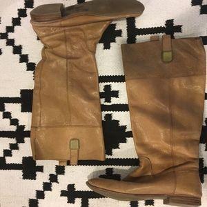Banana Republic tan leather shaft riding boots