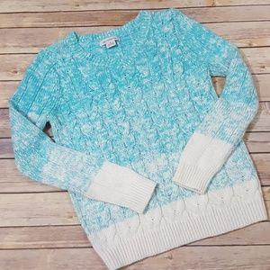 Liz Claiborne ombre cable knit sweater size medium
