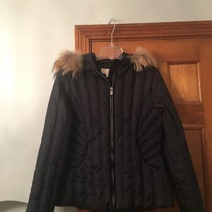 NWT Michael Kors Puffer coat with fur hood