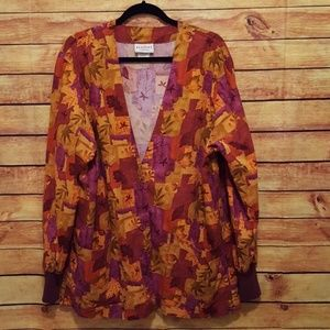 Peaches Uniform Fall Inspired Scrub Jacket