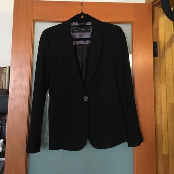 0f215abe Zara Jackets & Coats | Black Basic Blazer | Poshmark
