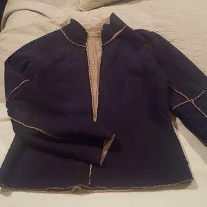 Velvet (brand) faux suede zip front jacket