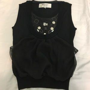 Tops - Elegant black detailed designed top.