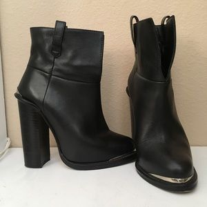 Opening Ceremony black leather ankle boots sz 35