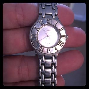 Accessories - Cartier silver watch (unlikely authentic-gift) $35