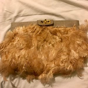 ASOS Pink Feathered Clutch