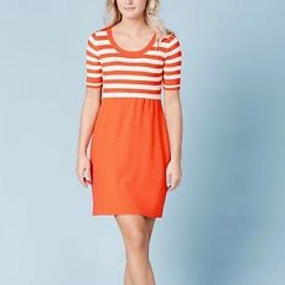 Boden Dresses Molly Knitted Striped Orange Dress 4 Poshmark