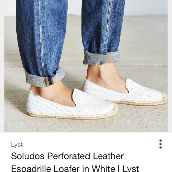 6191dd5ec Soludos Shoes | Leather White Espadrilles | Poshmark