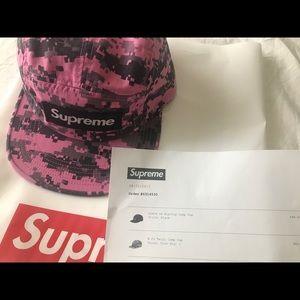 96b3dbb82eb Supreme Accessories - Supreme NYCO Twill Camp Cap FW17 Pink Digi Camo