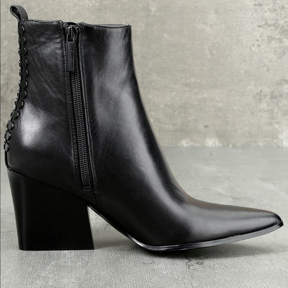 cc9dc22717c Kendall + Kylie Felix Black Leather Ankle Boots NWT