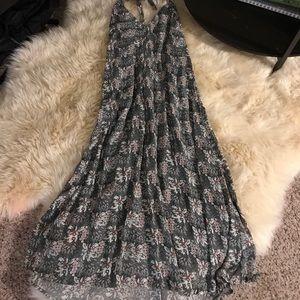 Line+ Dot Floral Halter Dress