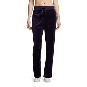 Pants - NEW Purple Velour Track Pants Size Large