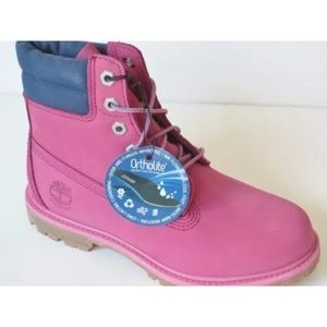Timberland women's PurplePink 6 Inch Booys A182L NWT