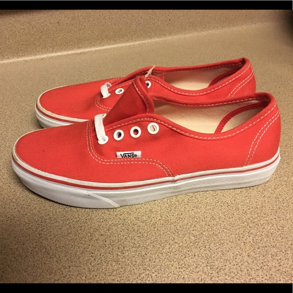 61b06a243a New Vans Authentic Era Classic Bright Red Womens 7