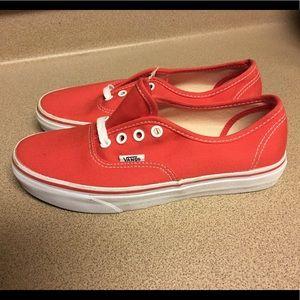 New Vans Authentic Era Classic Bright Red Womens 7