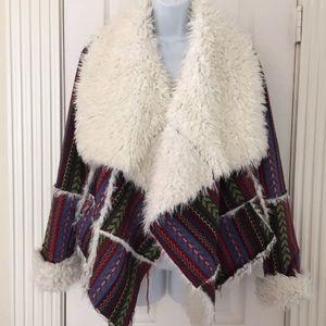 UNIF Lora Aztec Wrap Jacket