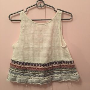 Embroidered urban outfitters tank top!