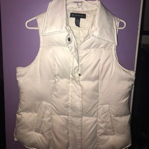 Cream color puffy vest by INC