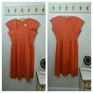 Cotton Dress by Shabby Apple, Orange