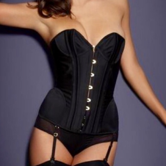 7bde25928b Agent provocateur intimates sleepwear uk damson black satin jpg 580x580 Agent  provocateur corset black