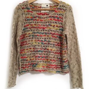 Kensie Loose Knit Multi-Colored Soft Sweater L