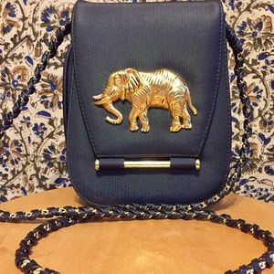 Handbags - Vintage gold elephant cross body purse