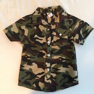 Other - Boys Healthtex button-down camouflage shirt